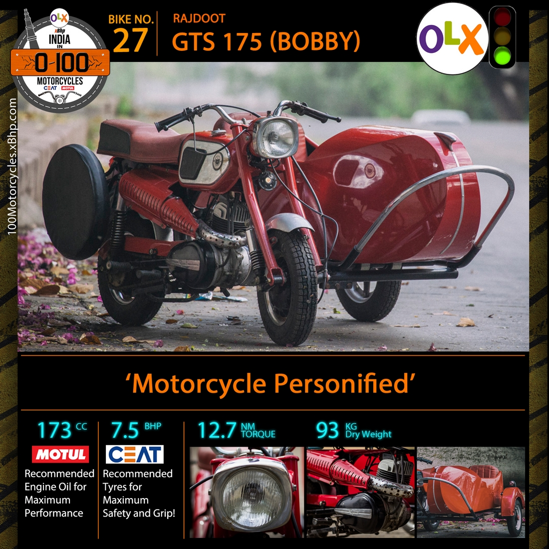 Rajdoot GTS 175 (Bobby) - xBhp Presents India in 0-100 Motorcycles'